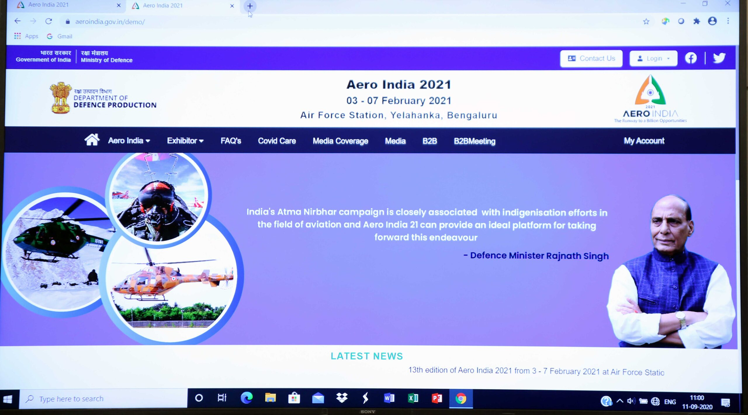 Defense Minister Launches Arrow India 21 website