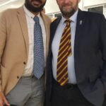 Monty Panesar with David Carpel