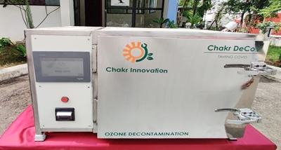 IIT Delhi launched the device named Chakr DeCoV.