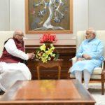 Lalji Tandon with Narendra Modi